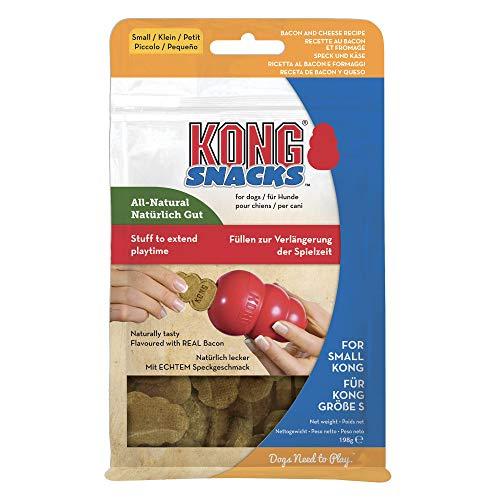 KONG - Snacks - Golosinas para Perros (Ideal para los Juguetes de Caucho Galletas de beicon y Queso - para Perros de Raza Pequeña