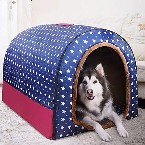 Extra Large Jumbo Dog Bed with Roof xl,Medium Dog House,Orthopedic Cushion Cosy,Comfy Calming Wicker,Warm Heated Cushion,XXL Kennel Washable Sleep Basket Labrador