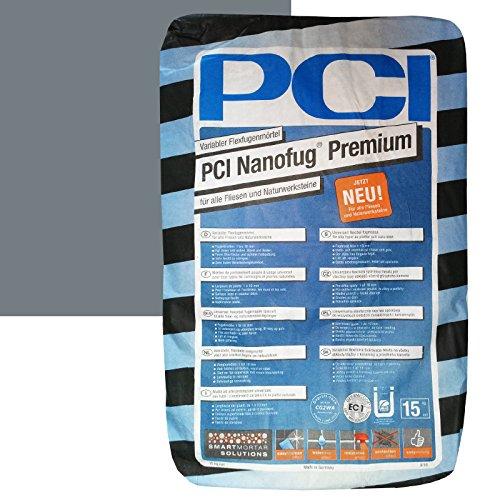 """PCI Nanofug Premium 15kg Flexfugenm""""rtel Nr. 19 Basalt"""