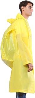 レインコート- シングルトラベル透明レインコート大人ハイキング防水ユニセックス屋外ロングポンチョ (色 : 黄, サイズ さいず : XL)