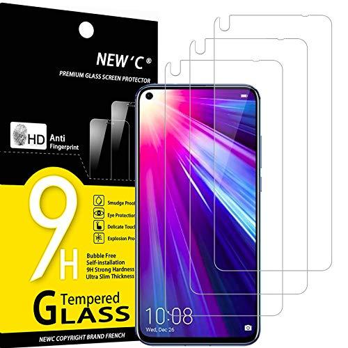 NEW'C 3 Pezzi, Vetro Temperato Compatibile con Honor View 20, Huawei Nova 4, Pellicola Prottetiva Anti Graffio, Anti-Impronte, Durezza 9H, 0,33mm Ultra Trasparente, Ultra Resistente