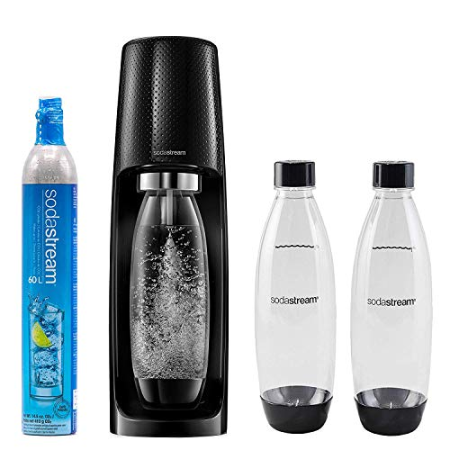 SodaStream Fizzi MEGA KIT Sparkling Water Maker with 3 1L Carbonating Bottles and 60L CO2 Cylinder Cartridge,Lightweight Sleek Design, Makes Tap Into Sparkling Water in Seconds!