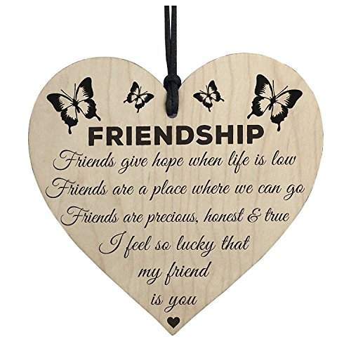 Ring Set - I 39 M Lucky My Friend Is You Wooden Hanging Heart Friendship Gift Friends - Mugs Friend Friendship Gifts Friends Best Shirts Party Decorations Happy Pill Mark Name Multi Color Weddi