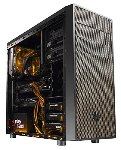 BitFenix BFC-NEO-100-KKWKA-RP Neos Midi-Tower PC-Gehäuse (ATX, 2X 5,25 Externe, 2X 3,5 interne, USB 3.0) schwarz/Gold