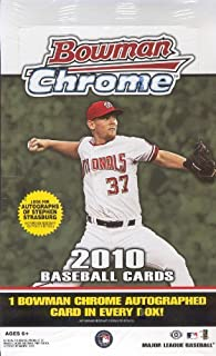 2010 Bowman Chrome MLB Baseball Sports Trading Cards Hobby Box