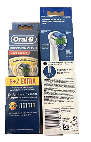 Oral-B - 610503 - Precision Clean Set De 8+2 Brossette Antibactériennes Anti-Bactéries