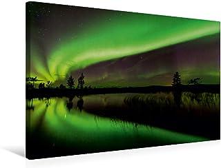 Premium - Lienzo de tela (75 x 50 cm, horizontal, imagen sobre bastidor, imagen sobre lienzo auténtico, impresión sobre lienzo, imagen clara se refleja en un lago (CALVENDO Natur);CALVENDO Natur