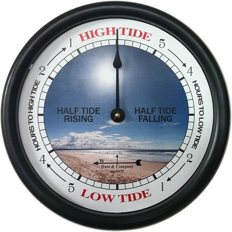 "West & Company 9 1/2"" Beach Tide Clock"