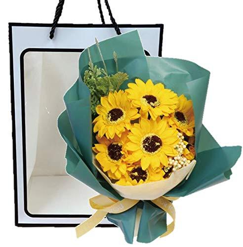ソープフラワーブーケ NEW11カラーソープブーケ(サンフラワー) 袋付 花束 ひまわり 母の日 父の日 敬老の日 誕生日 記念日 お祝い プレゼント ギフト お見舞い 還暦 退職 女性 男性 贈り物