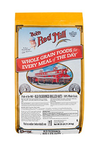 Bob's Red Mill Oats, Old Fashioned Regular Rolled, 400 Ounce (Pack of 1)