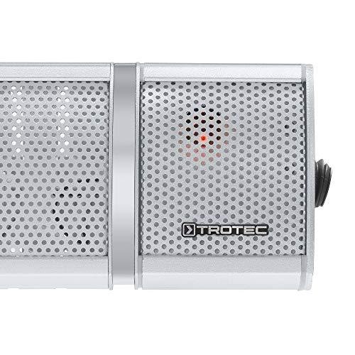 TROTEC Infrarot Heizstrahler IR 2050 Heizstrahler Quarzstrahler Terrassenheizer Wickeltischstrahler, Infrarot, Infrarotwärme ohne Vorheizen, strahlwassergeschützt, 2000 Watt - 8