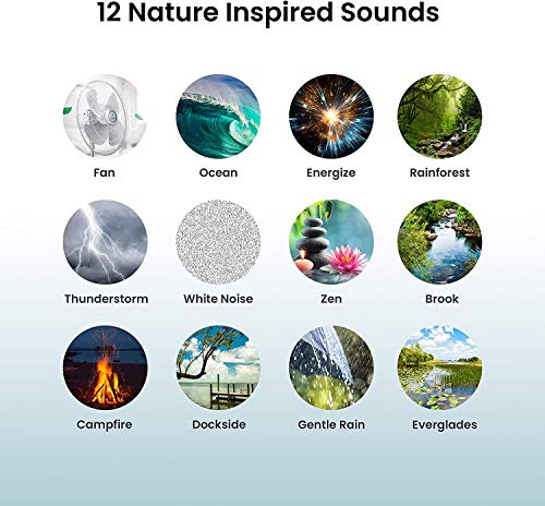 Ultra-Portable Rechargeable Sound Machine | 12 Relaxing Sleep Sounds , Auto-Off Timer, Adjustable Volume | Portable Sleep Therapy for Home , Office , Baby & Travel | HoMedics SoundSpa