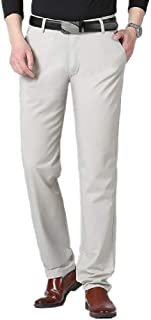 Mogogo Mens Long Business Classic-Fit Wrinkle-Resistant Casual Pants