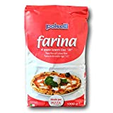 00 Pizza Flour Ideale per Pizza | All Natural - Unbleached - UnBromated - No Additives | Italian Flour (Farina) for baking, pizza, bread | Non GMO |1 PACK x 1 kg (2.2 lbs) by POLSELLI