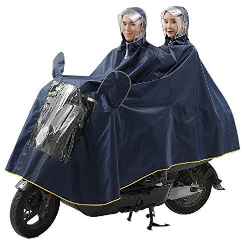 QINAIDI Poncho de Aumento de Engrosamiento de Doble Tapa contra la Lluvia de la Motocicleta eléctrica, Cubierta de máscara Desmontable, para Silla de Ruedas eléctrica, Bicicleta,3,XXXL