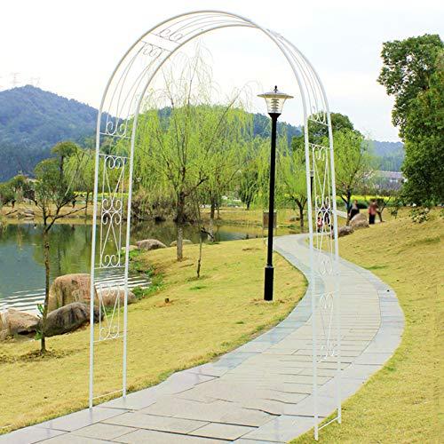 Iron Pergola, Outdoor Garden Arch, Metal Rose Arches, 150x40x270cm, Garden Arbor for Climbing Plants, Wedding Decoration