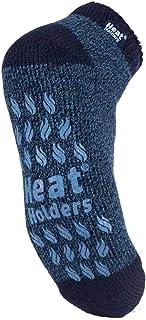 Heat Holders - Mens Non Slip Gripper Thermal Winter Low Cut Ankle Slipper Socks