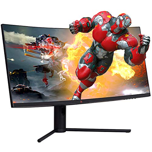 Deco Gear 34' 3440x1440 21:9 Ultrawide Curved Monitor, 144Hz, HDR10, 4000:1 Contrast Ratio, 6ms Response Time, 99% sRGB, 16.7 Million Colors, Adaptive Sync, Blue Light Reduction