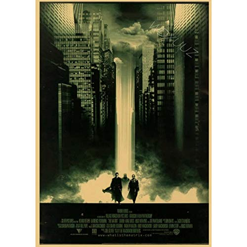 xmydeshoop American Action Sci Fi Classic Film The Matrix Rounds Family Retro Poster Decoration Lienzo De Pintura 50X70Cm (XMY:683)