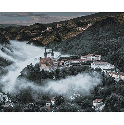 YKCKSD Puzzle 1000 Piezas Catedral De Covadonga España World Landscape Kit.