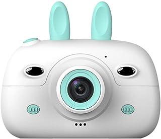 Cámara para niños PZNSPY Fotografía digital Cámara SLR pequeña Cámara fotográfica de dibujos animados divertida 2.4 pulgadas con lente doble para niños Azul Estados Unidos