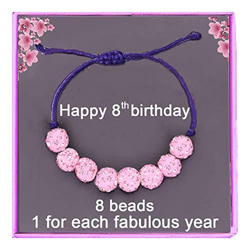 8 year old girls Birthday gift 8th birthday gift for little girls Brads Bracelet With Gift Box Birthday Cards Girl's Birthday Gift Jewellery