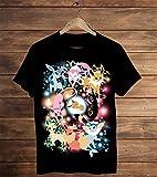 T-Shirt Noir pour Homme Pokemon Go Eevee Evolutions Evoli