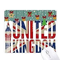 英国の英国国旗ユニオンジャックビッグ・ベン ゲーム用スライドゴムのマウスパッドクリスマス