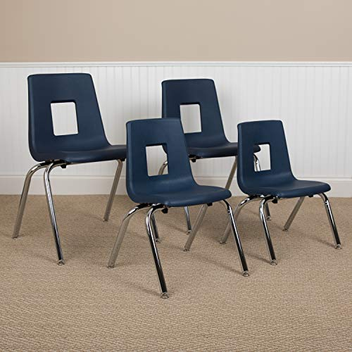 Flash Furniture Navy Student Stack Chair 16', 1 Pack