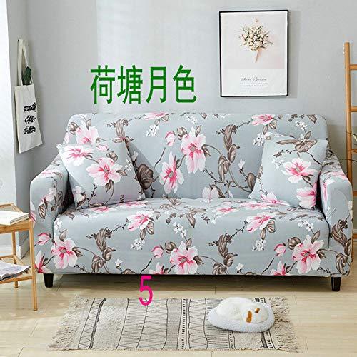 WEDZB Sofa hoes,1/2/3/4 zits kleur elastische bank hoes spandex moderne polyester hoekbank bank hoes stoelbeschermer woonkamer, 5,45,45,2 kussenslopen