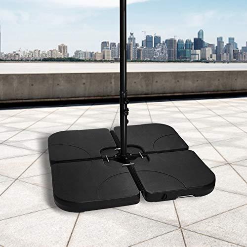 BMOT Schirmständer Gewicht befüllbar bis 160 kg Sonnenschirm Schirmgewicht Schirmständer Beschwerungsplatten Sonnenschirmständer Ampelschirm