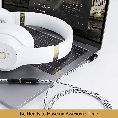 3.5mm Male to Female Stereo Audio Extension Cable, CableCreation 15FT Headphone Extension Cable Right Angle Compati   ble with Sony/Beats Headphones, Phone, Echo Dog, Speaker, Home