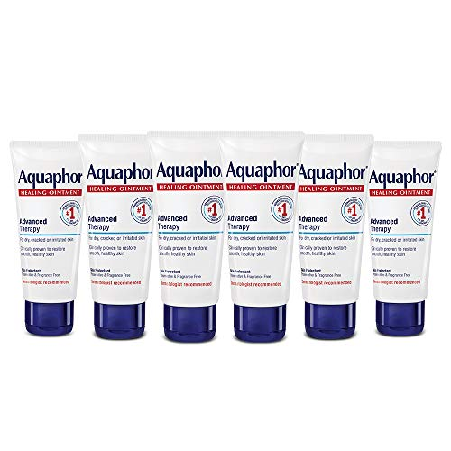 Aquaphor Healing Ointment - Pack of 6, Protectant for Dry Cracked Skin, Dry Hands, Travel Size - 1.75 oz. Tube