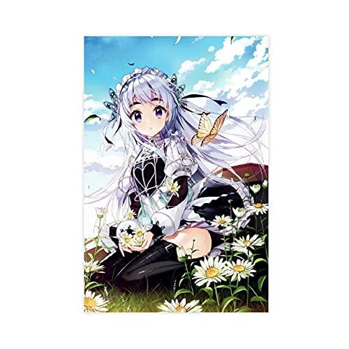 Chaika The Coffin Princess Chaika Trabant Anime 4 Leinwand-Poster, Wandkunst, Dekordruck, Gemälde für Wohnzimmer, Schlafzimmer, Dekoration, ungerahmt: 30 x 45 cm