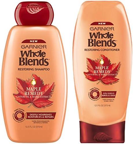 Garnier Whole Blends Maple Remedy Paraben Free Vegan Formula Shampoo Conditioner Set Net Wt product image