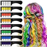 EZCO Hair Chalk Comb, 8PCS Temporary Hair Chalk Color for Adults Kids Girls