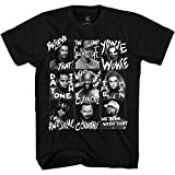 WWE Boys Superstars Group Shirt Superstar Tee - World Wrestling Champion T-Shirt (Black Grid, Medium)