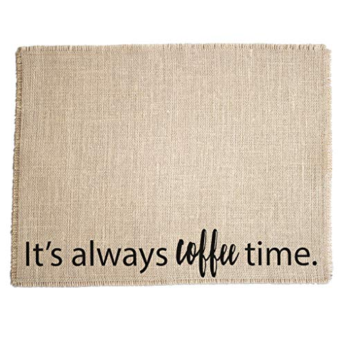 Coffee Maker Mat - The ORIGINAL Burlap Placemat for your Keurig - Made in the USA
