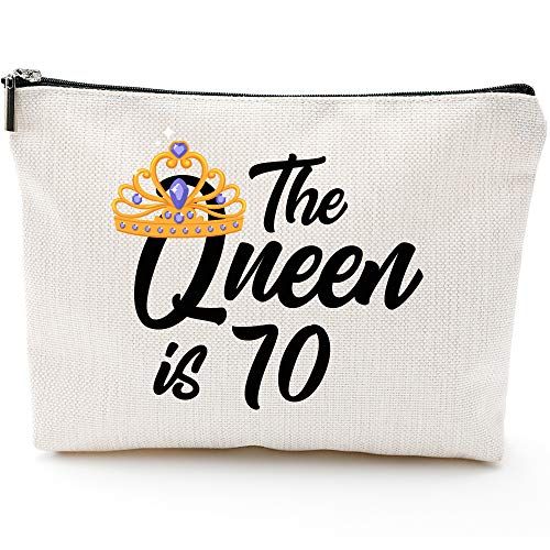 70th Birthday Gifts for Women,Mom Grandma Wife 70th Birthday Gifts Ideas,Queen 70s, Fun Makeup Bag Gifts