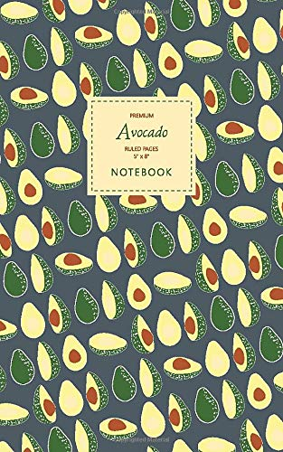 Price comparison product image Avocado Notebook - Ruled Pages - 5x8 - Premium: (Winter Edition) Fun notebook 96 ruled / lined pages (5x8 inches / 12.7x20.3cm / Junior Legal Pad / Nearly A5)