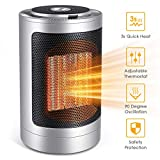FFDDY Space Heater, Indoor 750W/1500W Ceramic Electric Heater for Home/Office/Bedroom and Bathroom, Personal Desk Heater