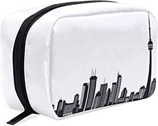 Canadian Toronto Black White Small Makeup Bag Purse Travel Makeup Pouch Mini Cosmetic Case Women Girls