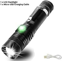 NANE Lampe Torche LED USB Rechargeable Waterproof