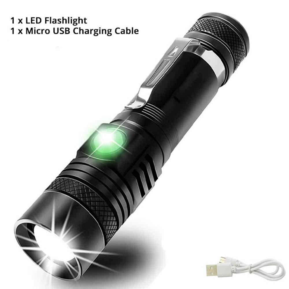 NANE Lampe Torche LED USB Rechargeable Waterproof 1000 Lumen Compact EDC Lampe Torche Accompagnée pour Les Activités Extérieurs Ménage