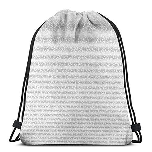 632 Sport Gym Sack,Entire Shrek 2 Script String Backpack Bag,Impressive Drawstring Backpacks For Climbing Hiking Travelling,36x43cm