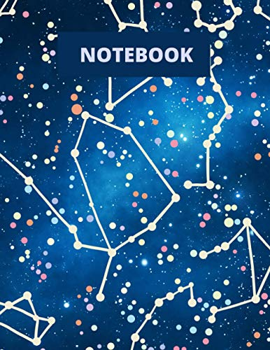 Constellation Notebook: Constellation Campus Star Map College Ruled Notebook Journal Notepad