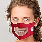 ZZXIAN Sichtbar Mund-und Nasen Transparente Gesichts