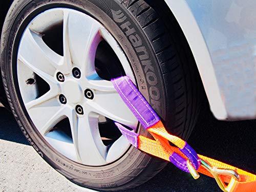 NTG 4 x 35mm Spanngurt Auto Transport Zurrgurt Radsicherung PKW Reifengurt
