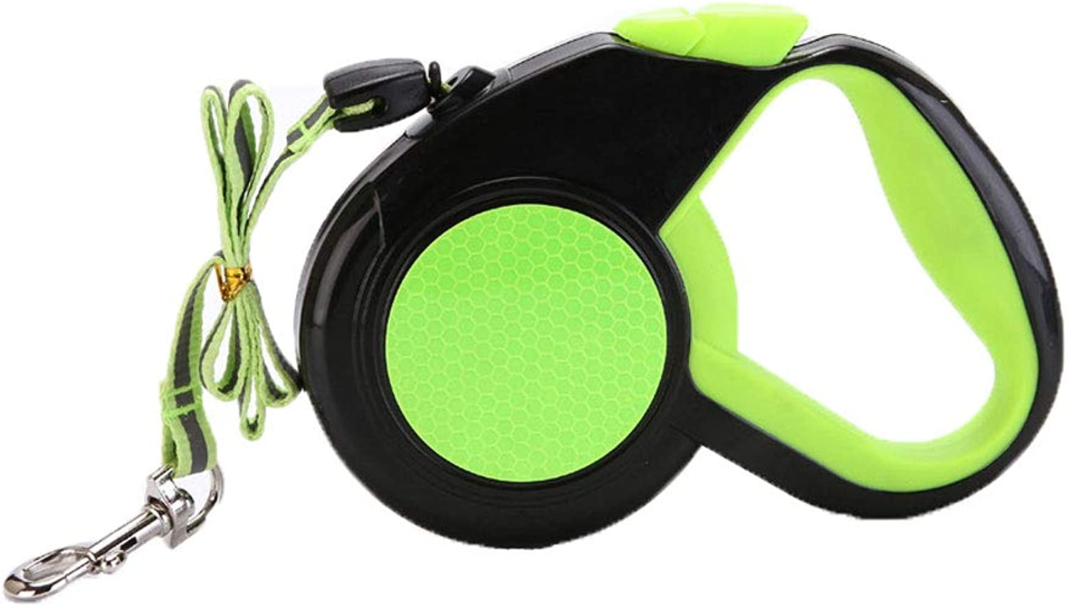 Retractable Lead for Small Dog Cat Reflective Pet Leash Walking Animals Lead. (color   Green, Size   5m)