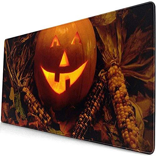 Halloween pompoen lantaarn duisternis kaars muismat muismat muismat anti-slip rubber duurzaam